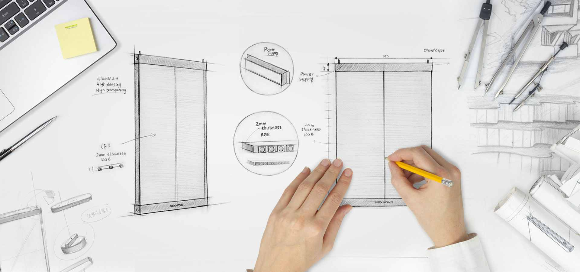 La ingeniería que requiere la instalación de las pantallas de led transparentes es sencilla y poco costosa en la mayoría de las isntalaciones. Screenad cuenta con un equipo técnico capaz de instalar y dar servicio a cualquier proyecto de pantallas de led transparentes
