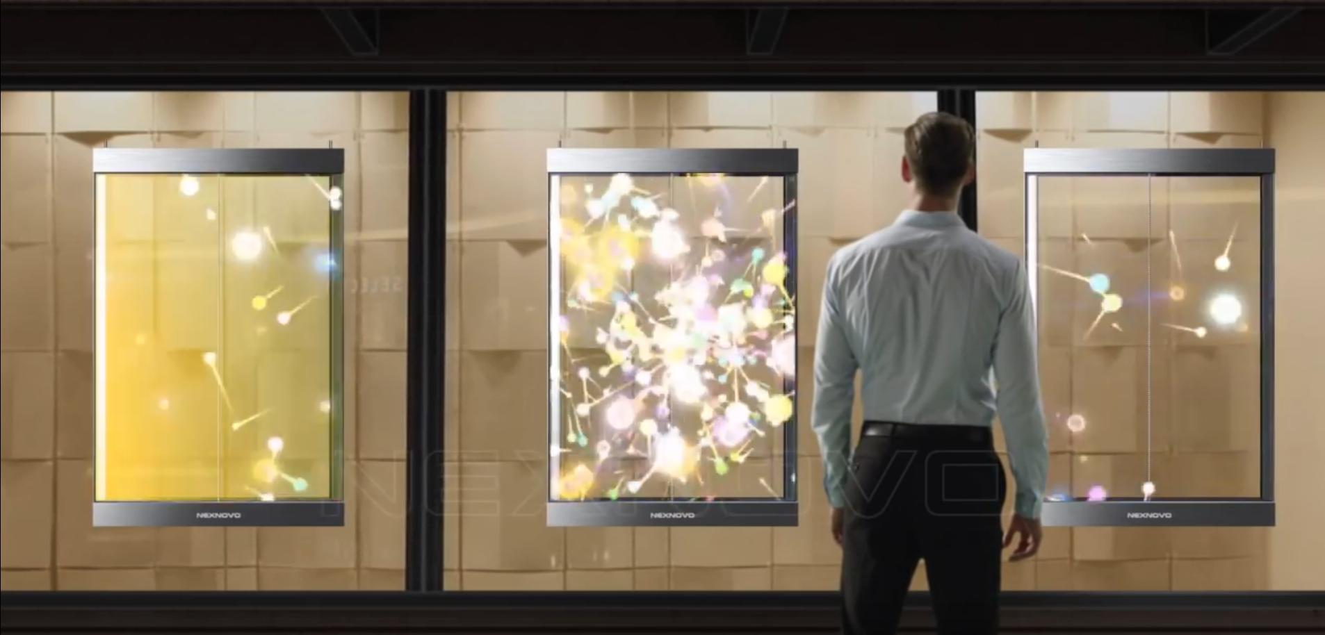las pantallas de led transparentes son adaptables a cualquier espacio de forma sencilla. Aprovechar un escaparate o una fachada para hacer publicidad con screenad