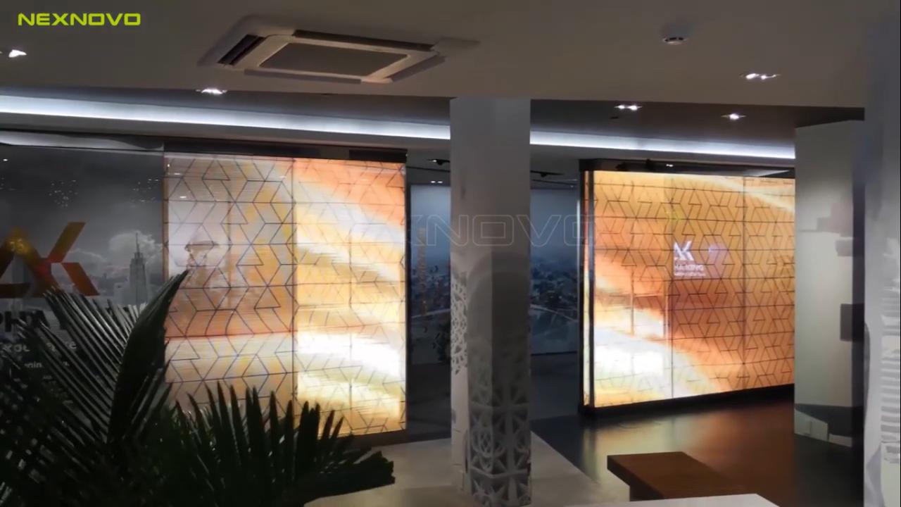 Puerta Automática LED transparente NEXNOVO